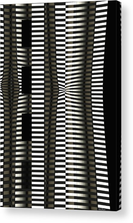 Abstract Acrylic Print featuring the digital art Impressive Old Thing by Peter Krause