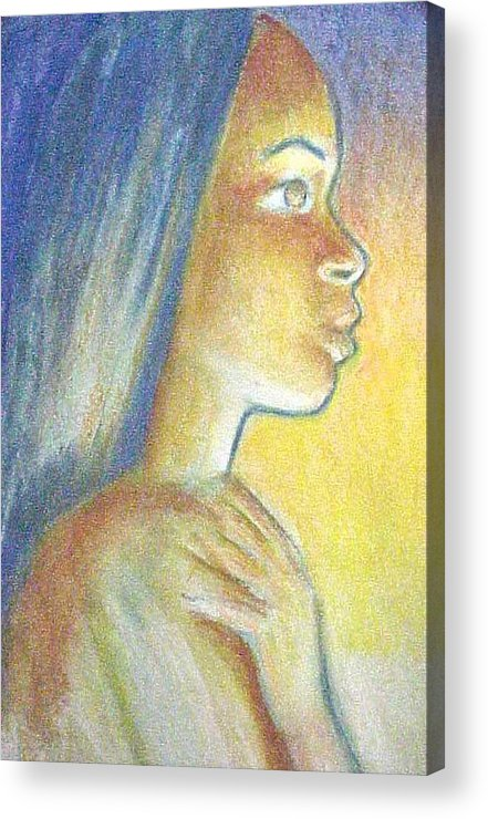 Acrylic Print featuring the drawing In The Glow by Jan Gilmore