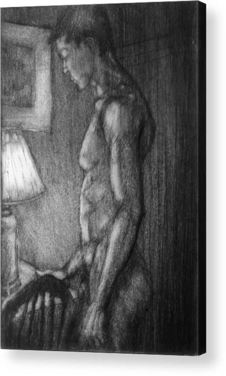 Man Acrylic Print featuring the drawing Incandescent by John Clum