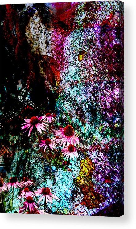 Flowers Acrylic Print featuring the digital art Internal Landscape 1 by Janele Wilson
