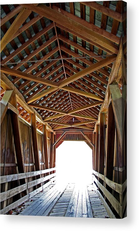Light Acrylic Print featuring the photograph Into The Light by Margie Wildblood
