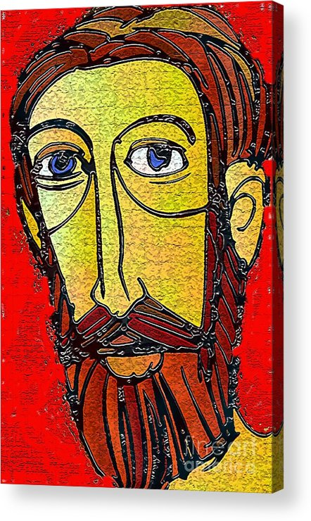 Jesus Acrylic Print featuring the mixed media Jesus Of Nazareth by Mimo Krouzian