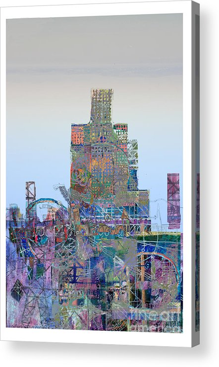 City Acrylic Print featuring the digital art Junk by Andy Mercer