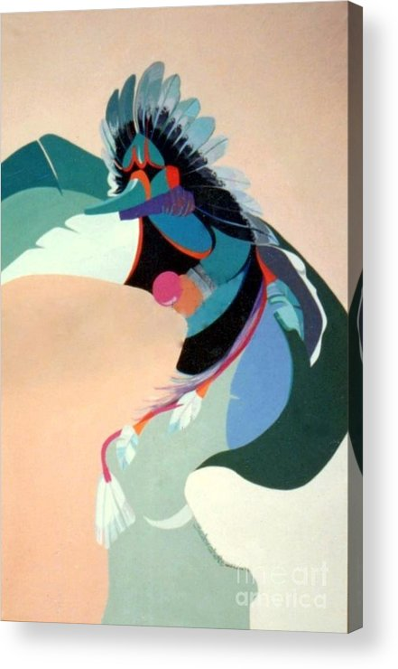 Kachina Acrylic Print featuring the painting Kachina 2 by Marlene Burns