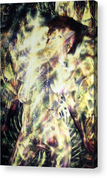 Painting Acrylic Print featuring the painting Kat Glows by Leigh Odom