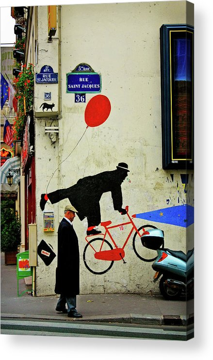 Paris Acrylic Print featuring the photograph Kick In The Head by Skip Hunt