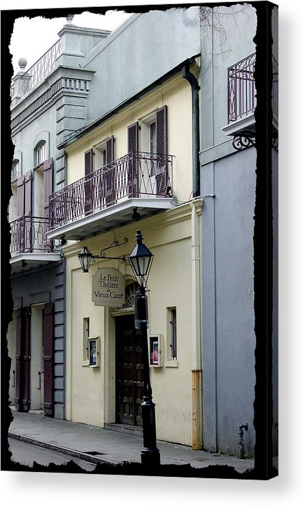 New Orleans Acrylic Print featuring the photograph Le Petit Theatre by Linda Kish