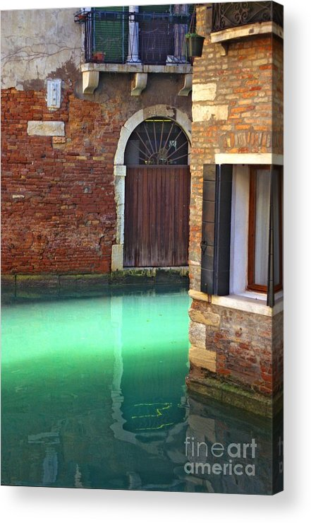 Venice Acrylic Print featuring the photograph Light On Canal In Venice by Michael Henderson