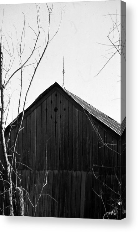 Ansel Adams Acrylic Print featuring the photograph lloyd-shanks-barn-1BW by Curtis J Neeley Jr