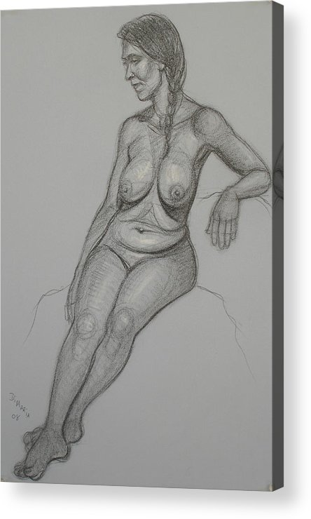 Realism Acrylic Print featuring the drawing Loma 1 by Donelli DiMaria