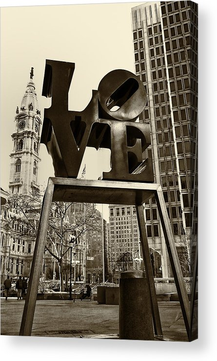 Love Acrylic Print featuring the photograph Love Philadelphia by Jack Paolini