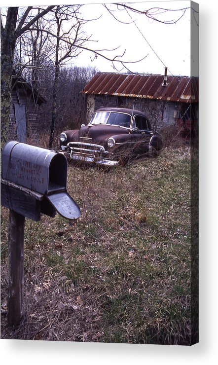 Acrylic Print featuring the photograph Mailbox Car by Curtis J Neeley Jr