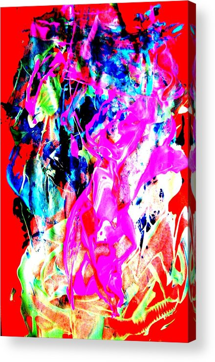 Bright Colors Acrylic Print featuring the painting Mardi Gras by Bruce Combs - REACH BEYOND