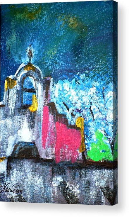 Churches Acrylic Print featuring the painting Mission Of The Spirit by Neva Rossi
