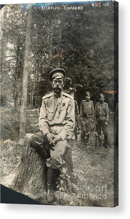 1917 Acrylic Print featuring the photograph Nicholas II (1868-1918) by Granger