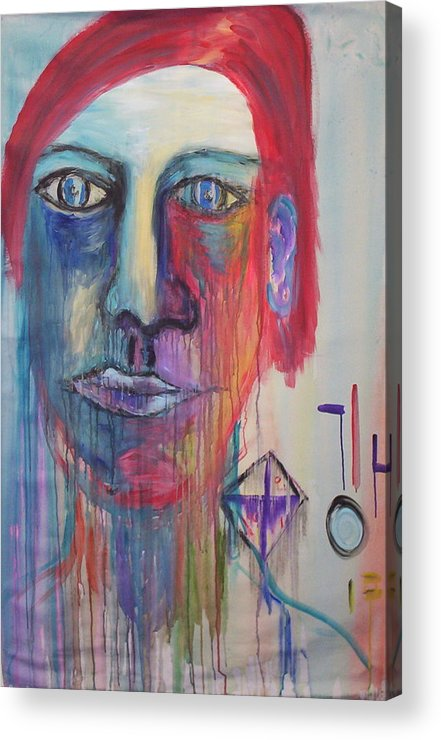 Portrait Acrylic Print featuring the painting Nostalgia by Moby Kane
