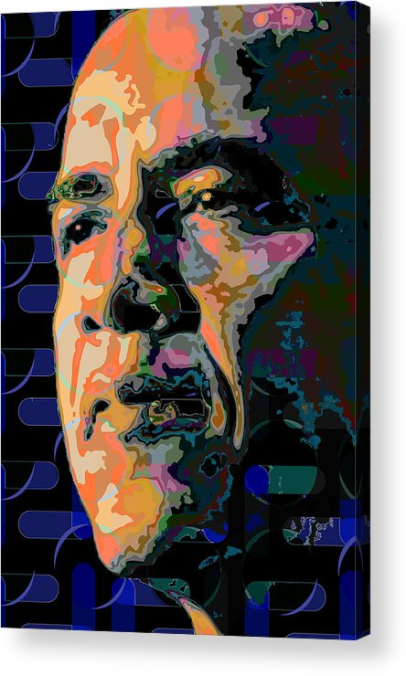 Obama Acrylic Print featuring the painting Obama by Scott Davis