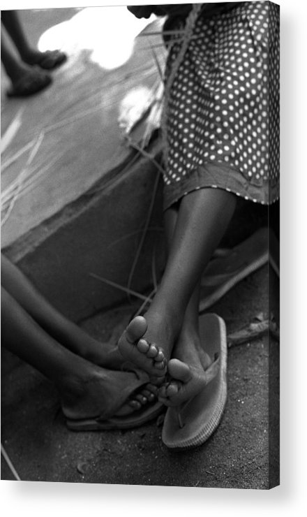Rwanda Acrylic Print featuring the photograph Orphan Feet by Marcus Best