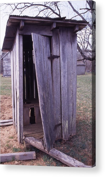 Acrylic Print featuring the photograph Outhouse2 by Curtis J Neeley Jr