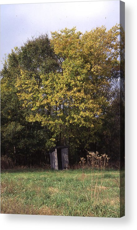 Acrylic Print featuring the photograph Outhouse4 by Curtis J Neeley Jr