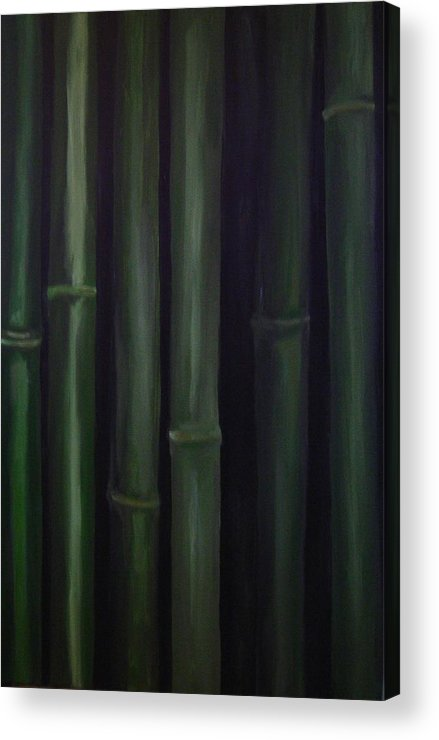 Huge Original Bamboo Acrylic Print featuring the painting Patience by Jean Brewster