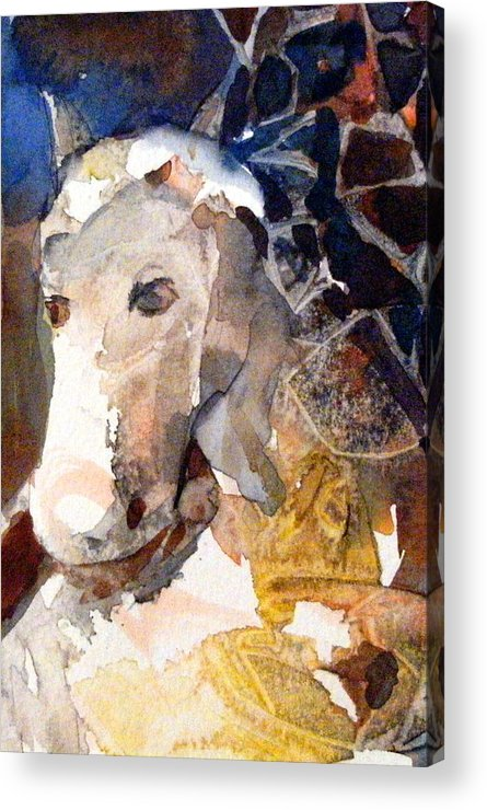 Pegasus Acrylic Print featuring the painting Pegasus by Mindy Newman