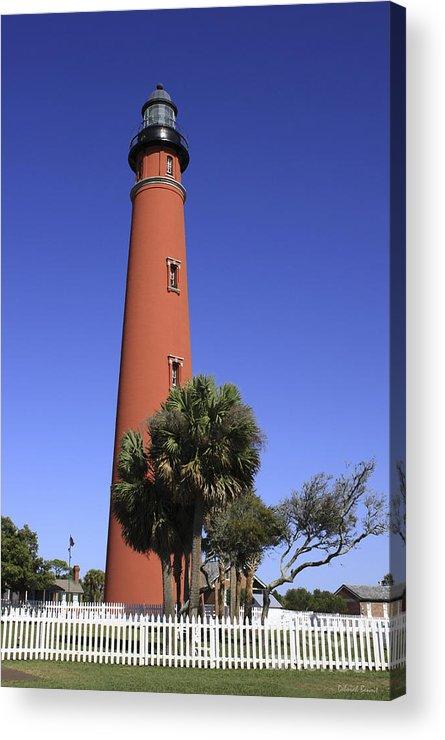 Florida Acrylic Print featuring the photograph Ponce Inlet Lighthouse by Deborah Benoit