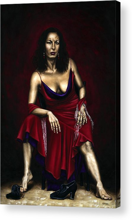 Portrait Acrylic Print featuring the painting Portrait Of A Dancer by Richard Young