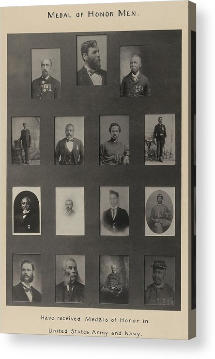 History Acrylic Print featuring the photograph Portraits Of 15 African American by Everett