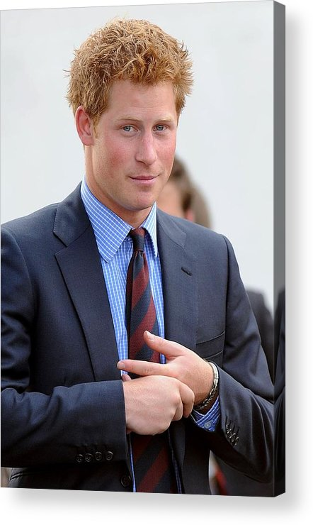 Prince Harry Acrylic Print featuring the photograph Prince Harry At A Public Appearance by Everett