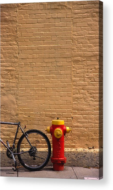Bicycle Acrylic Print featuring the photograph Quebec Hydrant by Art Ferrier