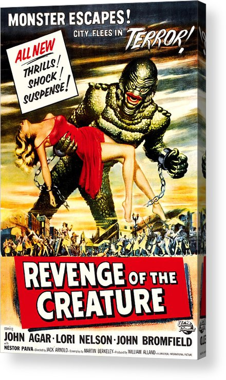 1950s Poster Art Acrylic Print featuring the photograph Revenge Of The Creature, 1955 by Everett