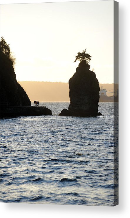 Stanley Park Acrylic Print featuring the photograph Siwash Rock Stanley Park by Jason Evans