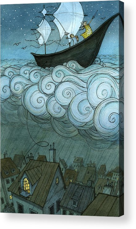 Acrylic Print featuring the drawing Sky Sailing by Eliza Wheeler