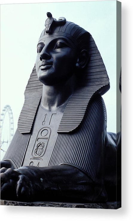 Black Acrylic Print featuring the photograph Sphinx In London by Carl Purcell