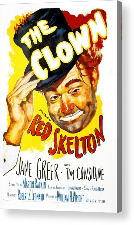 1950s Portraits Acrylic Print featuring the photograph The Clown, Red Skelton, 1953 by Everett