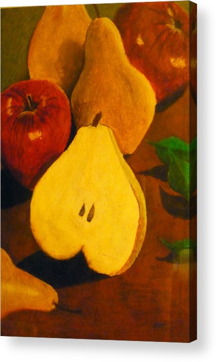 Fruits Acrylic Print featuring the painting The Fruits by Christian Hidalgo