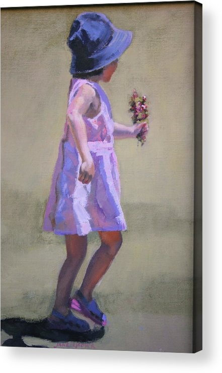 Figure Acrylic Print featuring the painting The Gift by Jane Grover
