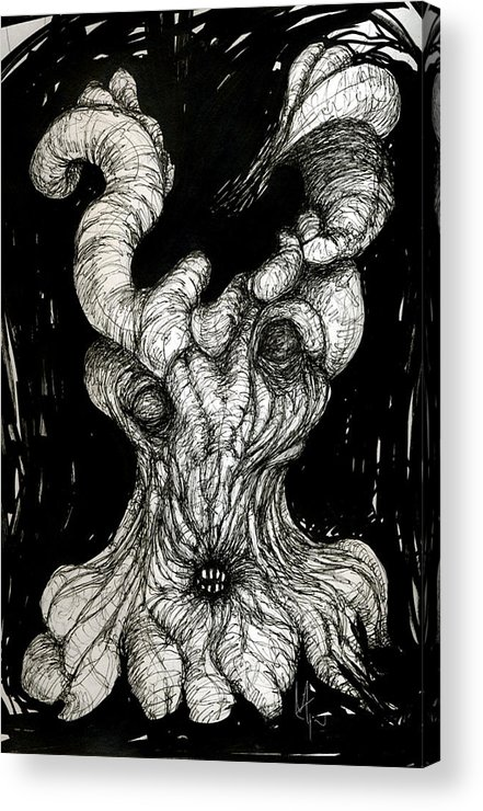 Surreal Drawing Acrylic Print featuring the drawing The Itch by Mark M Mellon