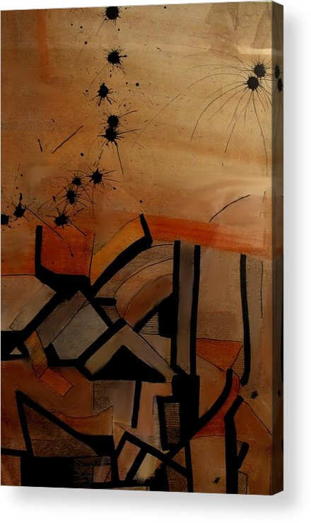 Abstract Acrylic Print featuring the drawing They Came From Afar by Ian MacDonald