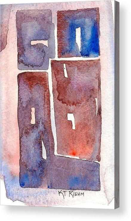 Abstract Acrylic Print featuring the painting Tiles 1 by Karen Riehm