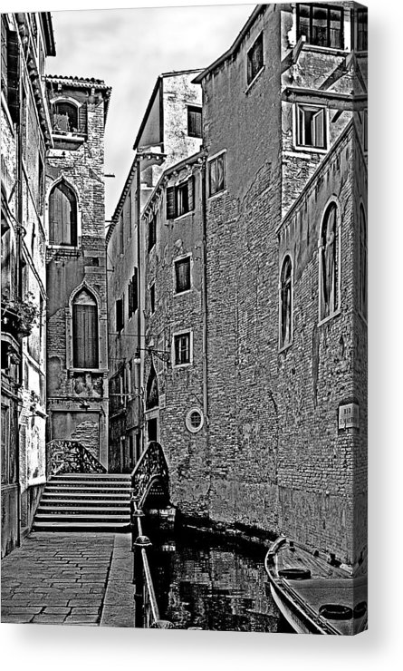 Venice In B&w Acrylic Print featuring the photograph Venice 2 by Victor Yekelchik