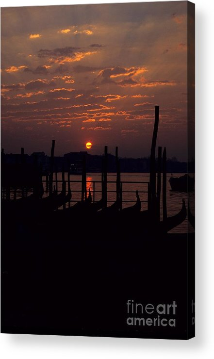 Venice Acrylic Print featuring the photograph Venice Sunrise by Michael Henderson