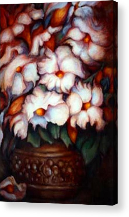 Flower Artwork Acrylic Print featuring the painting Western Flowers by Jordana Sands