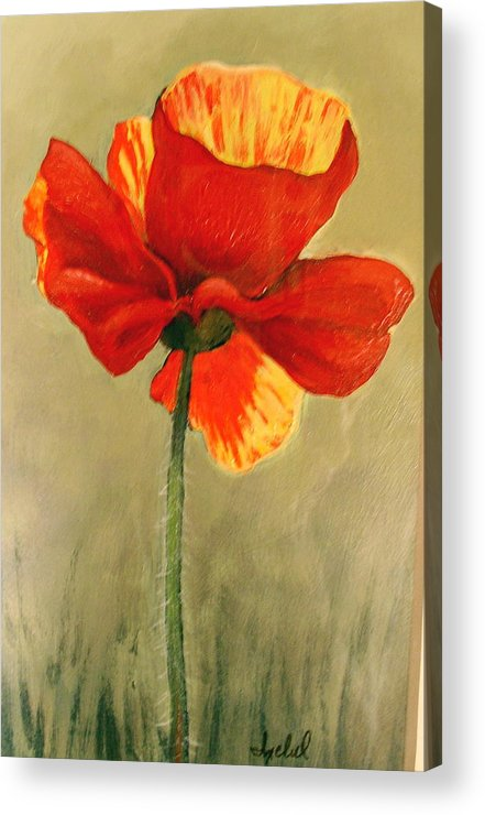 Flower Acrylic Print featuring the painting Wildflower 2 by Ixchel Amor