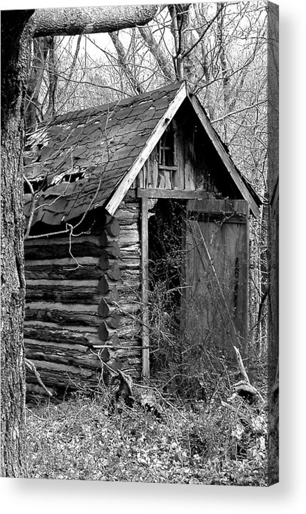 Ansel Adams Acrylic Print featuring the photograph Winslowlogouthouse-11x17 by Curtis J Neeley Jr