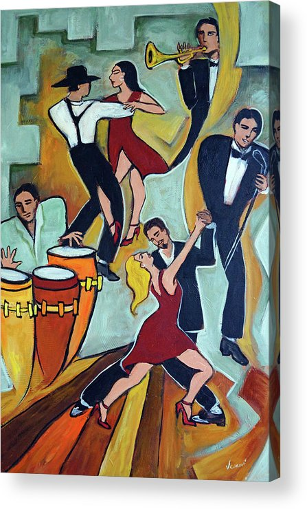 Tango Acrylic Print featuring the painting Tango Terroso 1 by Valerie Vescovi
