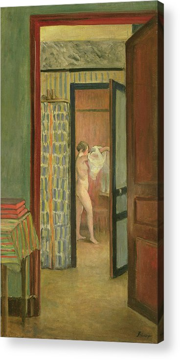 Interior Acrylic Print featuring the painting The Toilet by Henri Lebasque