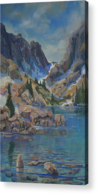 Acrylic Print featuring the painting Near Haydens Spires by Heather Coen