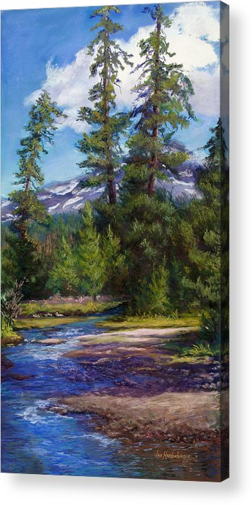 Pacific Northwest Acrylic Print featuring the painting Flowing Free by Jan Hardenburger